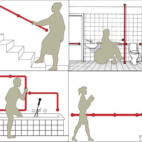 Modulaire trapleuningen