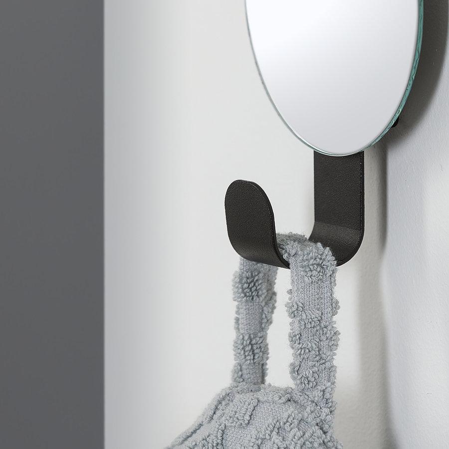 Sealskin haak met spiegel Brix zwart