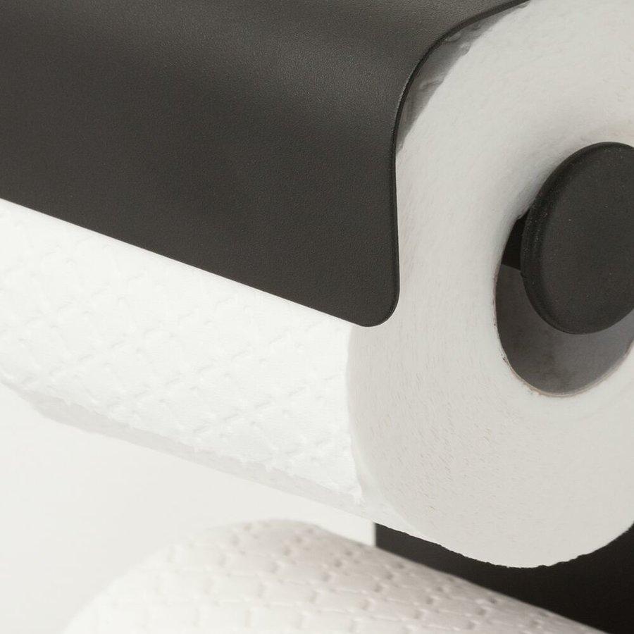 Sealskin porte-rouleau papier toilette Brix métal noir