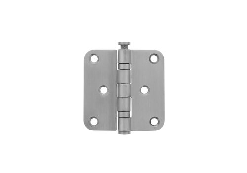Intersteel Ball bearing hinge 76x76x2.5mm rounded stainless steel brushed
