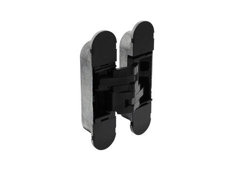 Charnière Intersteel 130x30 mm zamak - noir réglable en 3D
