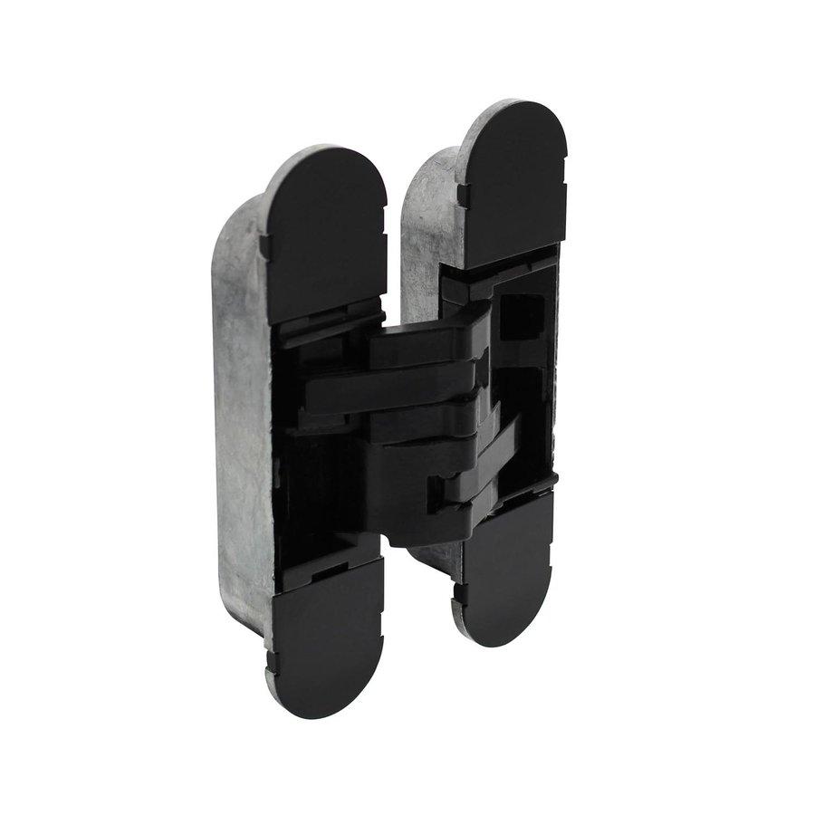 Intersteel Scharnier 130x30 mm zamak – zwart 3D verstelbaar