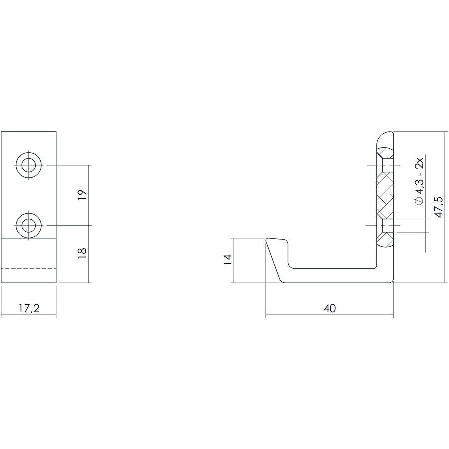 Intersteel Jashaak 40 mm aluminium verticaal