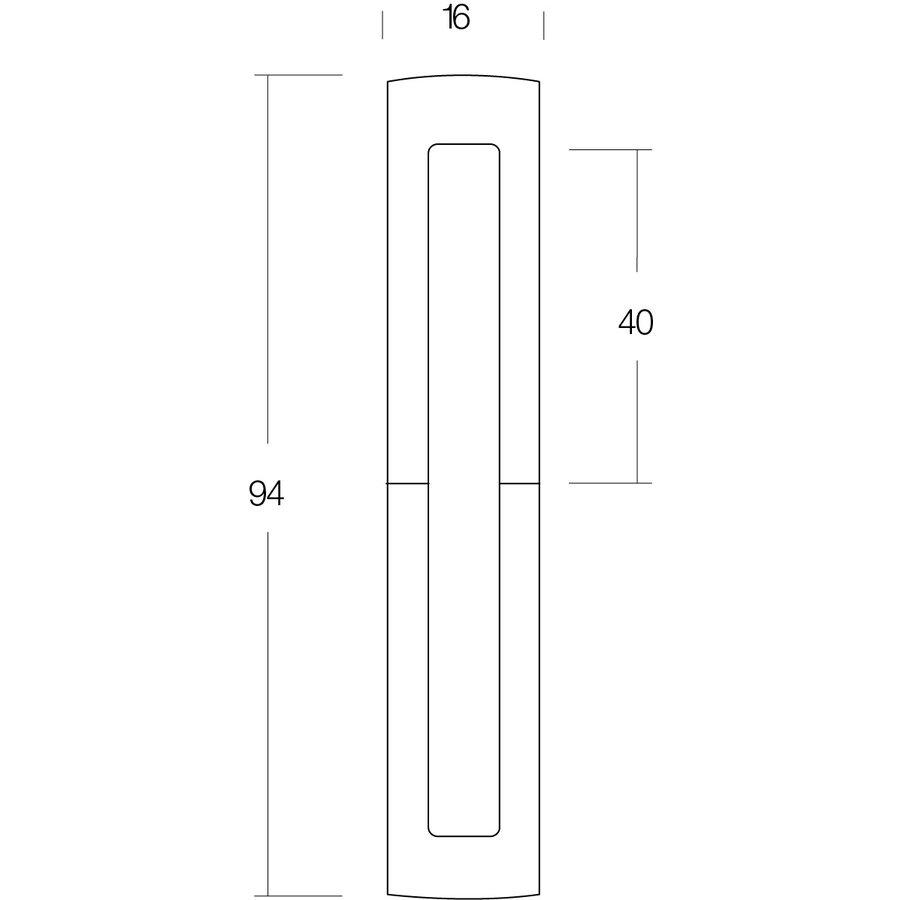 Intersteel Sierhuls 40/40 mm mat zwart