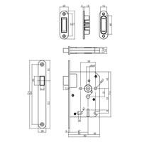 Intersteel Woningbouw magneet klavier dag- en nachtslot 55mm, voorplaat afgerond rvs