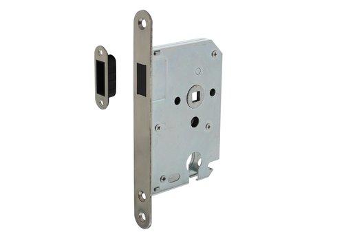 Intersteel Woningbouw magneet cilinder dag- en nachtslot 55mm, voorplaat afgerond rvs