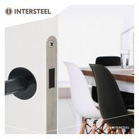 Residential magnet lock, front plate stainless steel, 20x175, mandrel 50mm incl. Strike plate / bowl