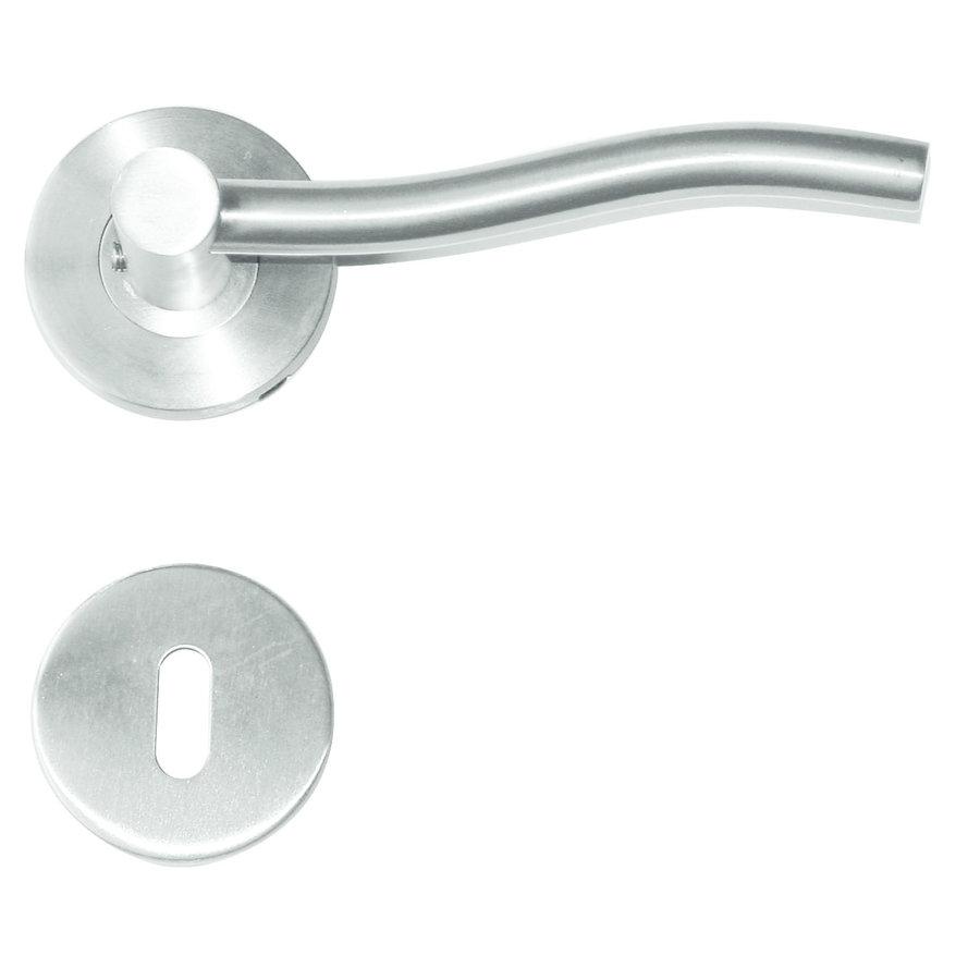 RVS deurklinken Venus met sleutelplaatjes