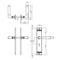 Intersteel Deurkruk Ton Basic met schild sleutelgat 56mm nikkel
