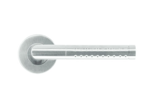 Poignées de porte en acier inoxydable en forme de pointe sans plaques de clé