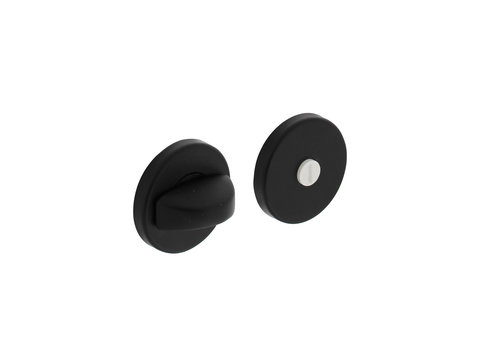 Intersteel Rozet met toilet-/badkamersluiting ø50x7mm aluminium zwart