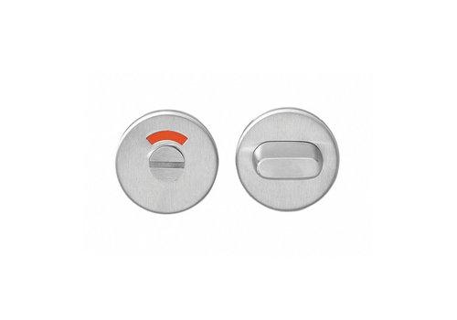 Intersteel WC closure 8mm round flat concealed stainless steel