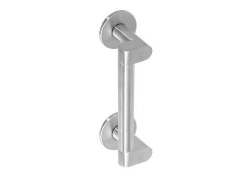Intersteel Door handle Erik Munnikhof Dock Solid 200 mm brushed stainless steel