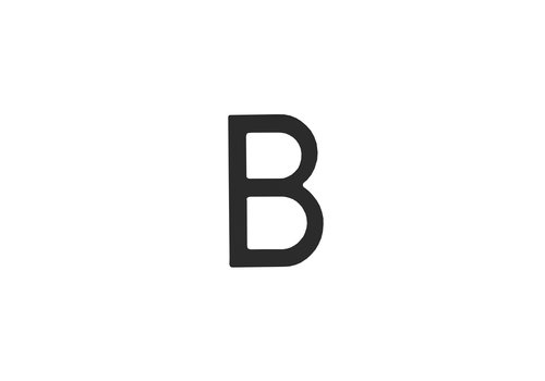 Schwarzer Hausbuchstabe B -100mm