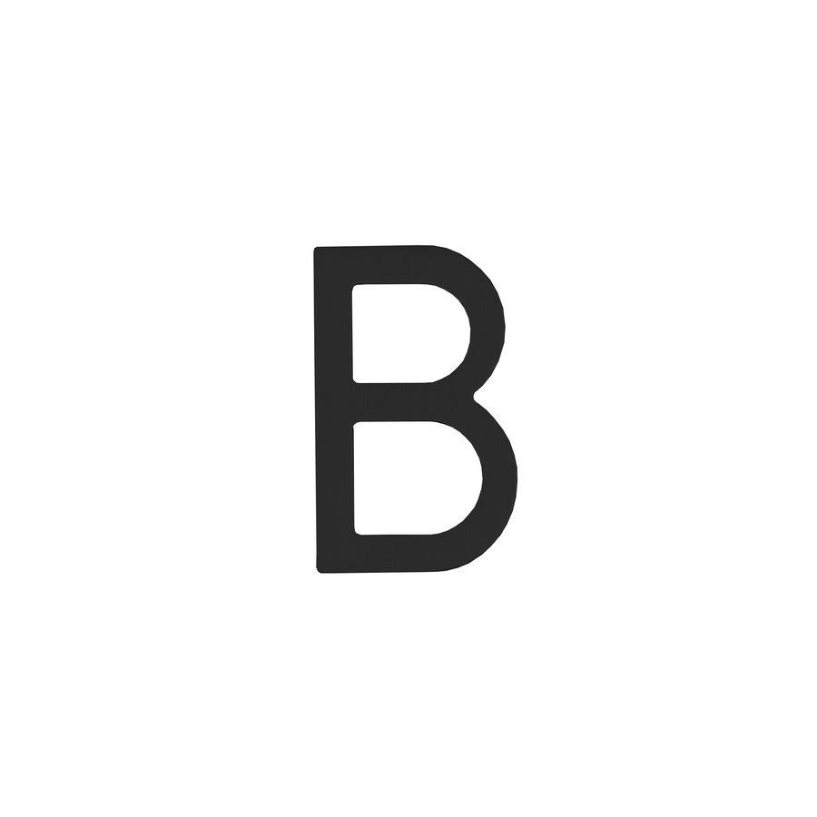 Intersteel Huisletter B 100 mm zwart