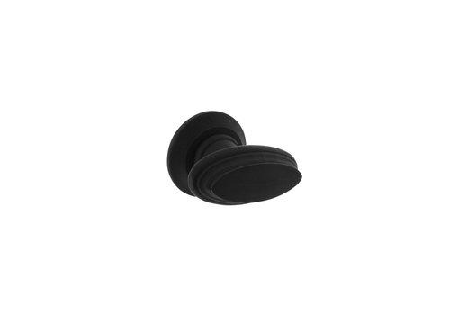 Intersteel Knopkruk rand met rozet zwart