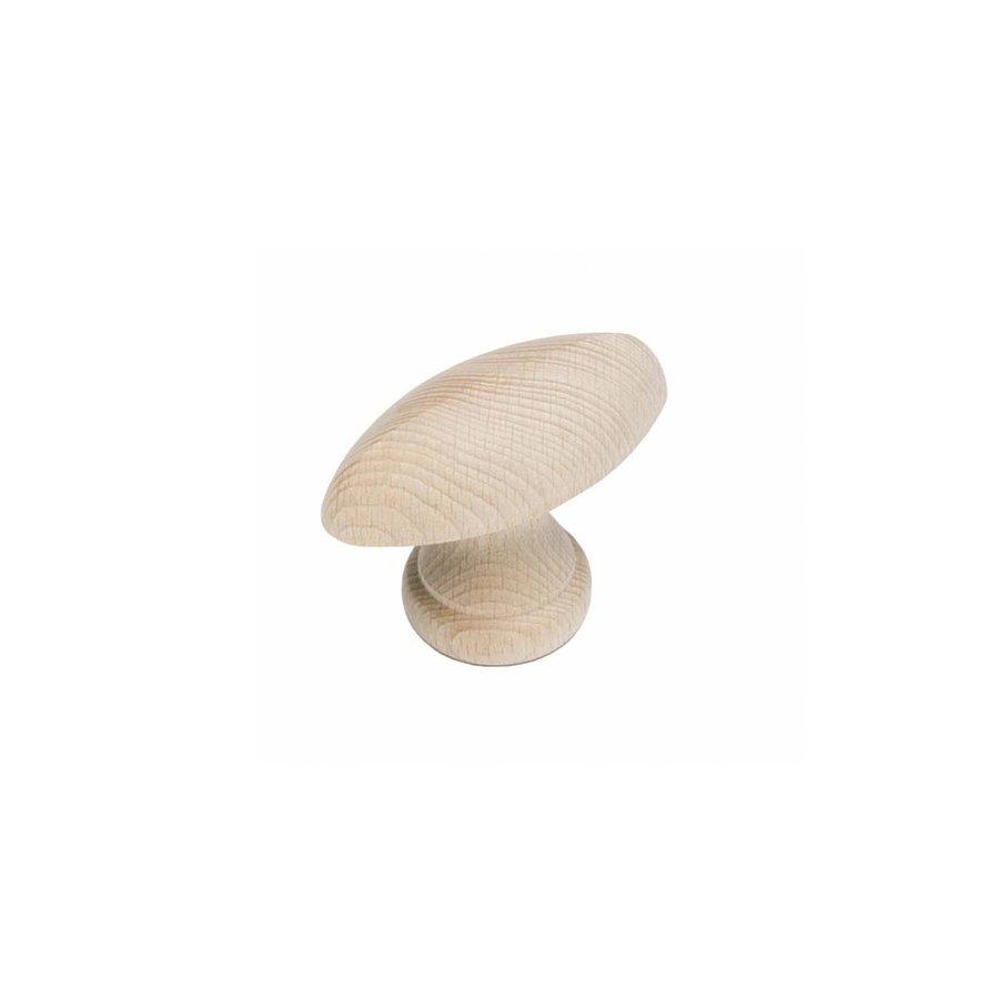 Intersteel Meubelknop glad ovaal hout