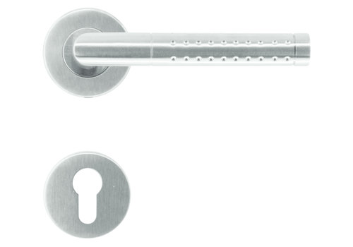 Stainless steel door handles point shape with PZ
