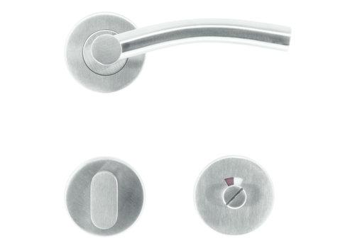 Poignées de porte en acier inoxydable Nitro avec robinetterie WC