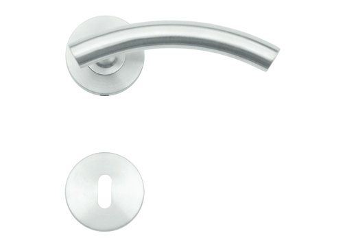 Stainless steel door handles GT shape with key plates