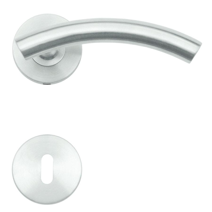 RVS deurklinken GT shape met sleutelplaatjes