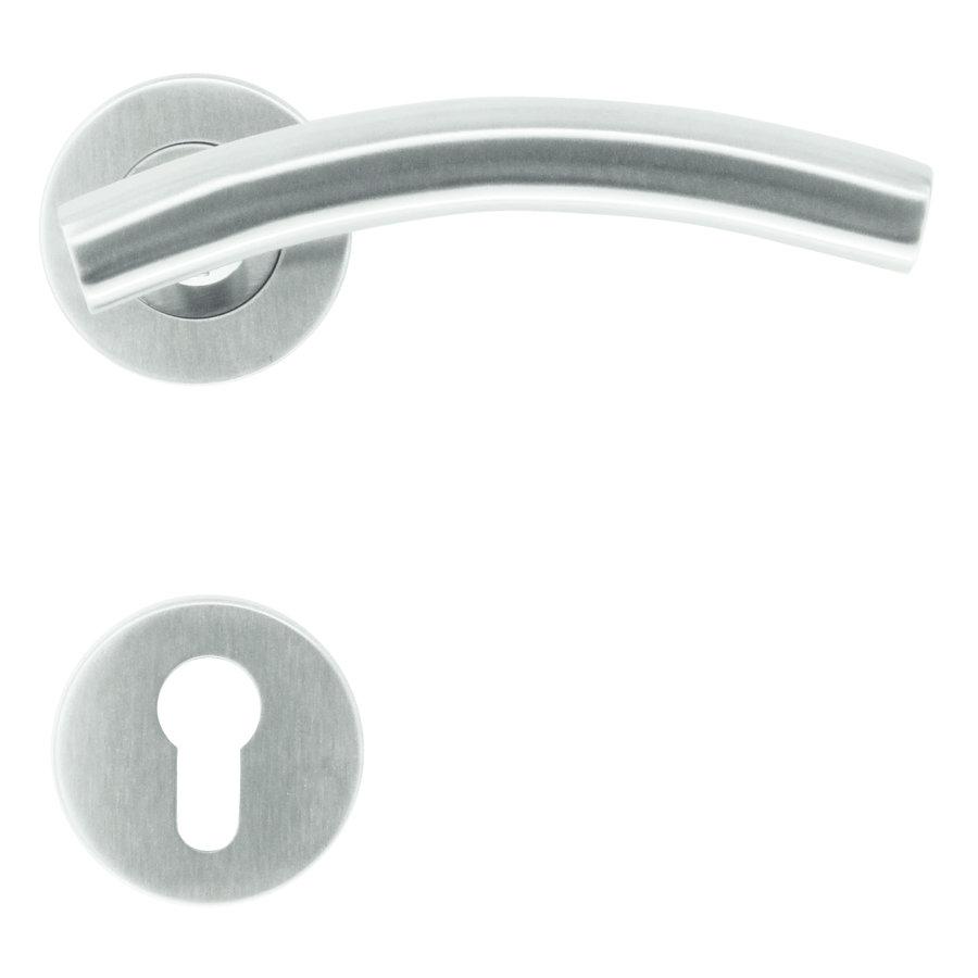 RVS deurklinken GT shape met cilinderplaatjes