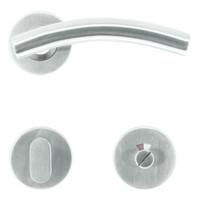 RVS deurklinken GT shape met WC garnituur