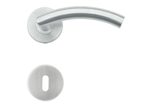 RVS deurklinken GI shape met sleutelplaatjes