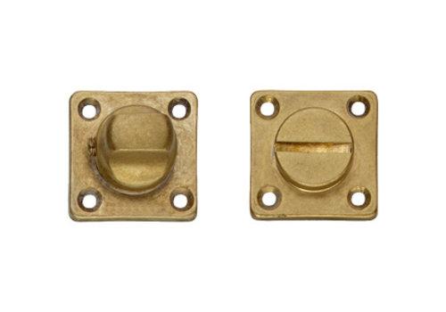 Fermeture de toilettes / salle de bains à rosace en acier inoxydable avec trou de vis carré, laiton vieilli