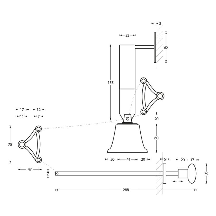 Intersteel Trekbel garnituur chroom