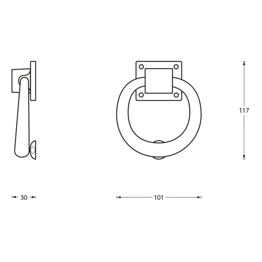 Intersteel Deurklopper rond 107mm chroom