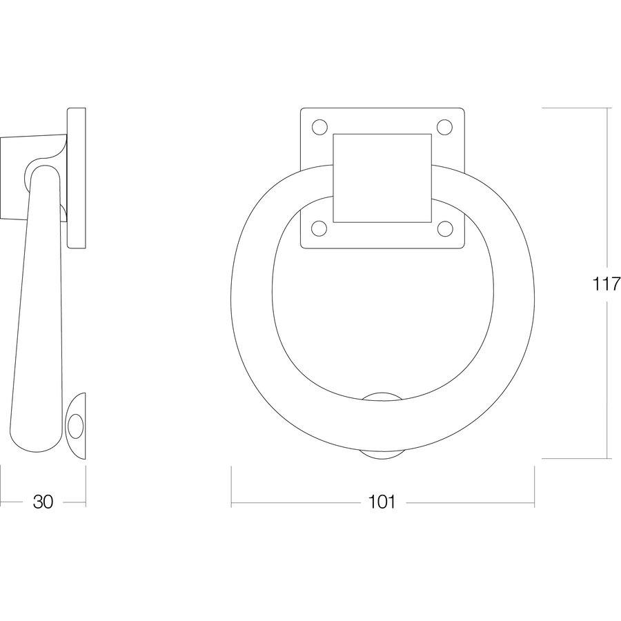 Intersteel Deurklopper rond 107mm nikkel mat