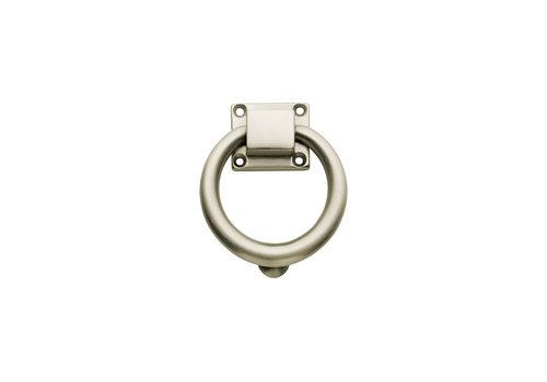 Heurtoir de porte Intersteel rond 107 mm nickel mat