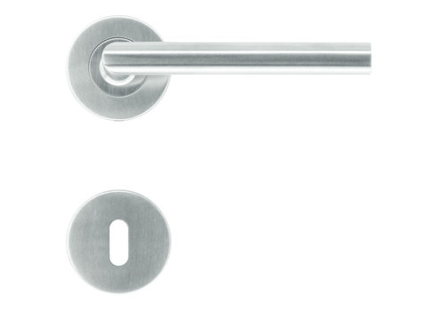 """Poignées de porte en acier inoxydable """"Rocker"""" 16 mm avec plaques porte-clés"""
