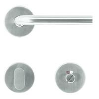 """RVS deurklinken """"Jive"""" 16 mm met WC garnituur"""