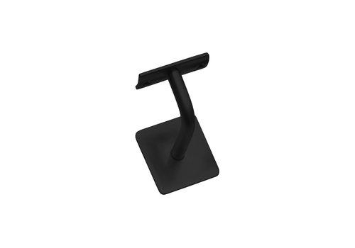 Intersteel Handrail holder curved square hollow saddle black