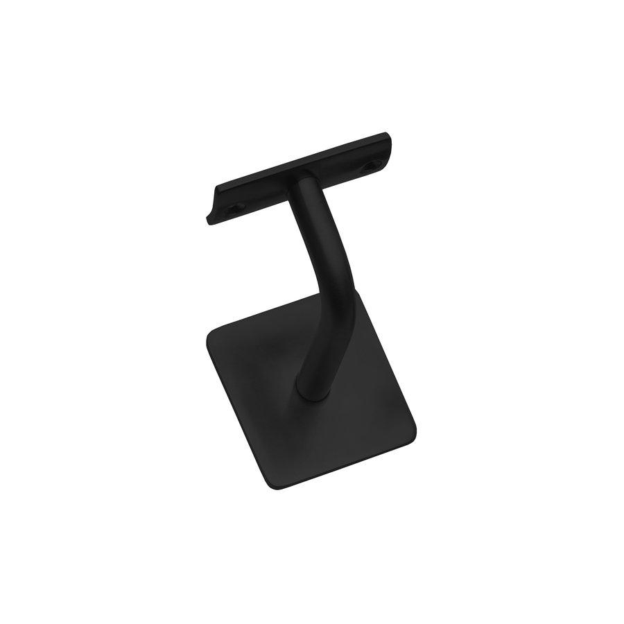 Intersteel Leuninghouder gebogen vierkant hol zadel zwart