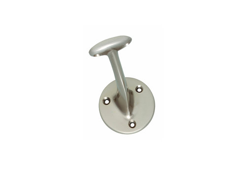 Intersteel Handrail holder flat saddle nickel mat