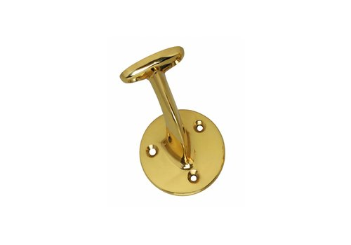 Intersteel Handrail holder hollow saddle brass lacquered