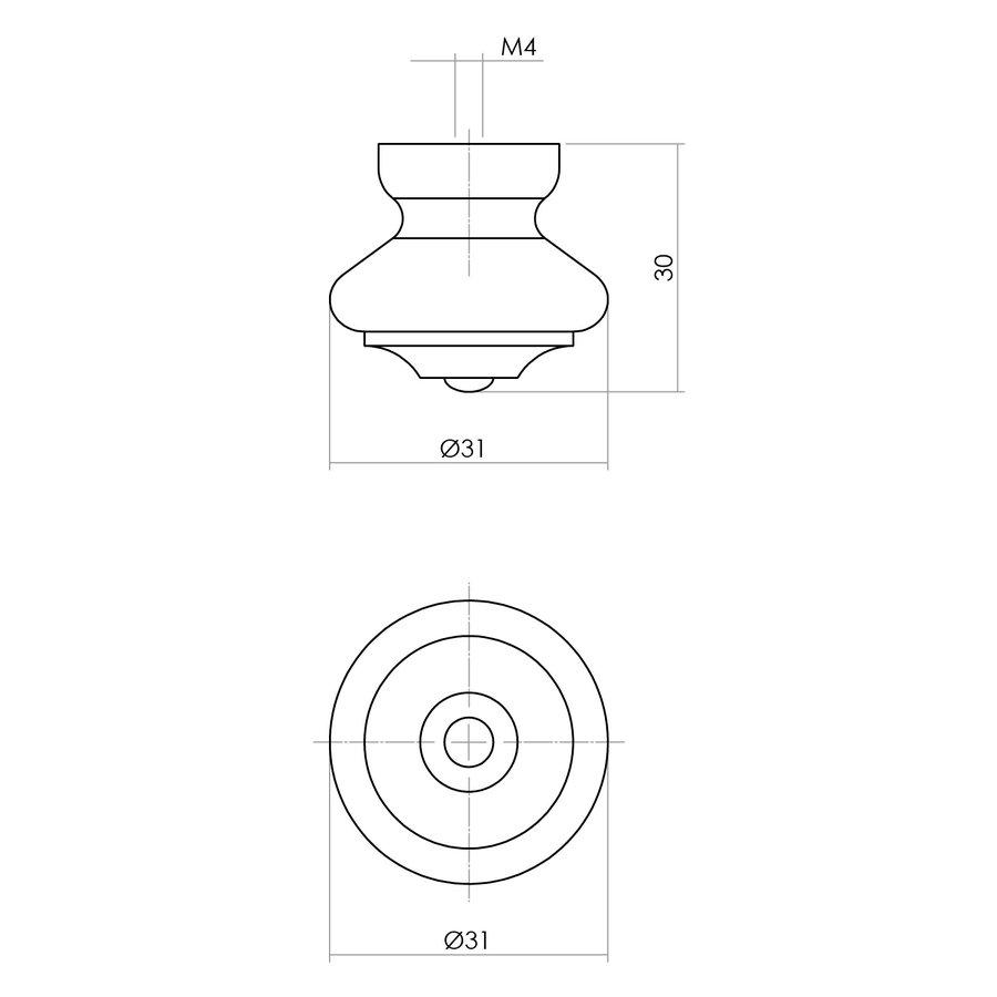 Intersteel Knop 30mm beukenhout