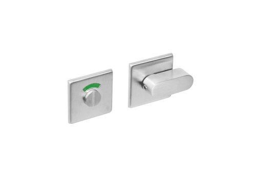 Intersteel Rosette WC / fermeture de salle de bain en acier inoxydable carré brossé