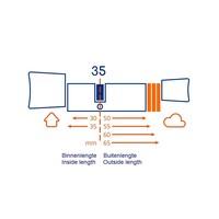 Bold smart cylinder SX35 - skg3 gekeurd  - veilig en gemakkelijk