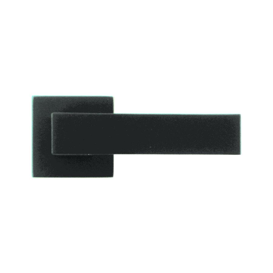 Zwarte deurklinken Cubica zonder sleutelplaatjes