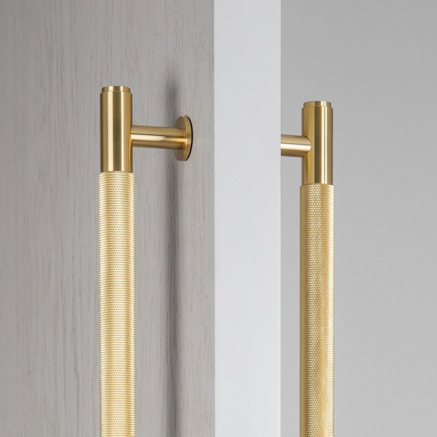 Pair of brass door handles from Buster and Punch - total length 774 mm