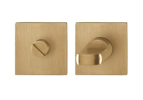 Hoppe WC set Dallas square with thin rosette 2 mm - brass F78
