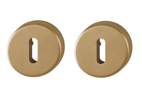 Plaques porte-clés Hoppe Resista rondes en laiton satiné
