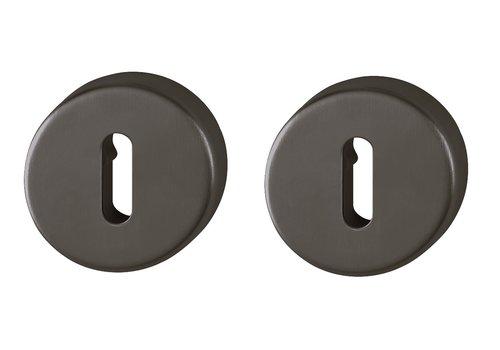 Hoppe Resista sleutelplaatjes rond zwart gesatineerd Ø52x8mm