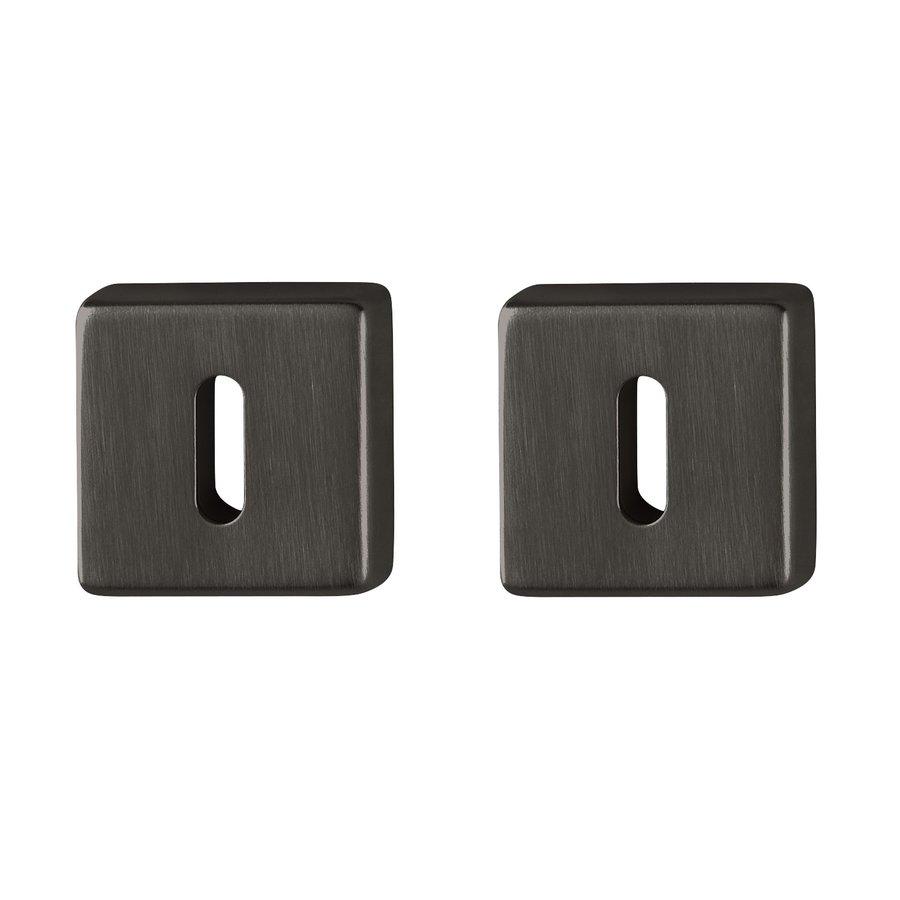 Hoppe Resista sleutelplaatjes vierkant zwart gesatineerd  Ø52x8mm