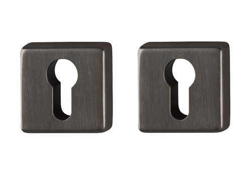 Hoppe Resista PC cilinderplaatjes vierkant zwart gesatineerd