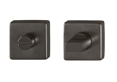 Hoppe WC garnituur Dallas vierkant rozas Ø49x8mm zwart
